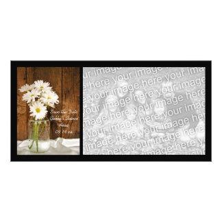 Économies de Quinceañera de marguerites blanches Cartes Avec Photo