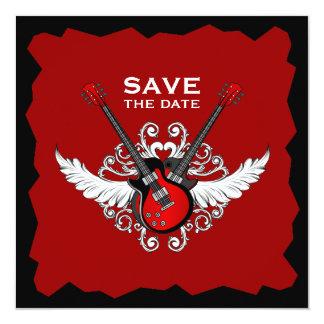 Économies de rock l'invitation de date carton d'invitation  13,33 cm