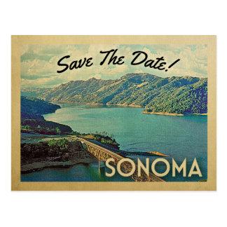 Économies de Sonoma les cartes postales de cru de