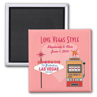 Économies de style de Vegas d'amour le magnet de d Magnets Pour Réfrigérateur