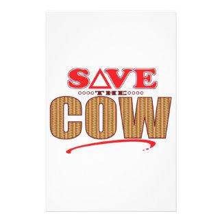 Économies de vache papeterie