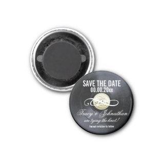 Économies de vinyle que la date PERSONNALISENT Magnet Carré 2,50 Cm
