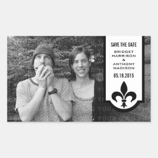 Économies d'Ivory Fleur De Lis Banner les Sticker Rectangulaire