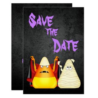 Économies éffrayantes mignonnes de Halloween Carton D'invitation 8,89 Cm X 12,70 Cm