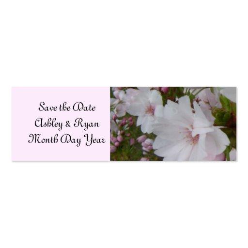 Économies élégantes de fleurs de cerisier la date cartes de visite professionnelles