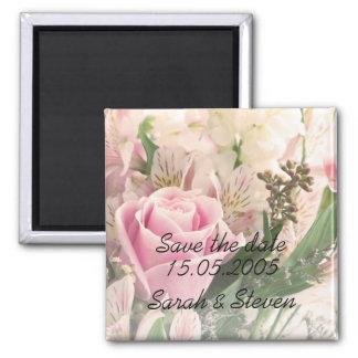 Économies élégantes de luxe de bouquet de fleurs d magnets pour réfrigérateur