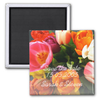 Économies élégantes de luxe de bouquet de tulipes  magnets pour réfrigérateur