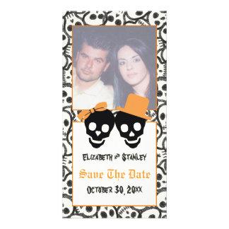 Économies élégantes de mariage de Halloween de Cartes De Vœux Avec Photo