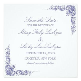 Économies élégantes le faire-part de date carton d'invitation  13,33 cm