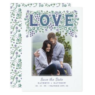 Économies enlacées par amour la carte d'invitation carton d'invitation  12,7 cm x 17,78 cm