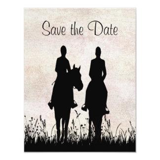 Économies équestres de mariage d'équitation la carton d'invitation 10,79 cm x 13,97 cm