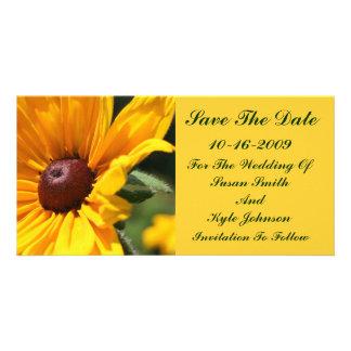 Économies florales de mariage de Susan observées p Cartes De Vœux Avec Photo