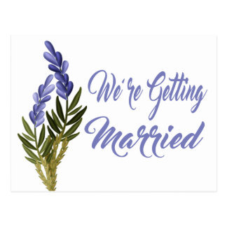 Économies florales le mariage pourpre de lavande cartes postales