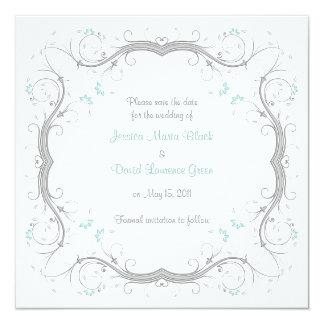 Économies florales personnalisables la carte de carton d'invitation  13,33 cm
