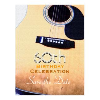 Économies folkloriques de coutume de guitare le carte postale