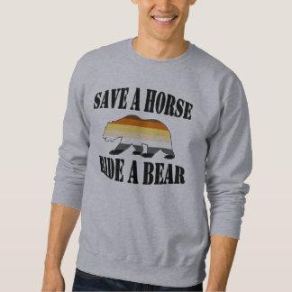 Économies gaies de fierté d'ours un tour de cheval sweatshirt