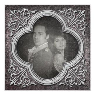 Économies gothiques de mariage de photo carton d'invitation  13,33 cm