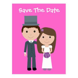Économies mignonnes de jeune mariée et de marié la cartes postales