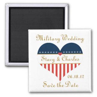 Économies militaires de mariage l'aimant magnet carré