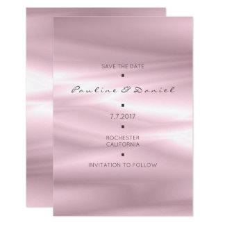 Économies minimales le pourpre lilas en soie blanc carton d'invitation 8,89 cm x 12,70 cm