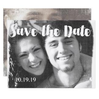 Économies modernes de mariage de photo la date carton d'invitation 10,79 cm x 13,97 cm