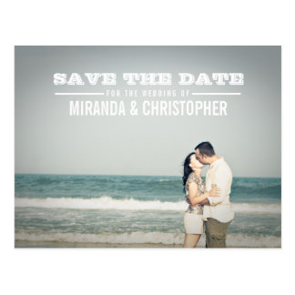Économies modernes de mariage la carte postale de