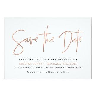 Économies modernes les annonces de date carton d'invitation  12,7 cm x 17,78 cm