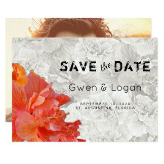 Économies oranges de mariage de ketmie le carte carton d'invitation  12,7 cm x 17,78 cm
