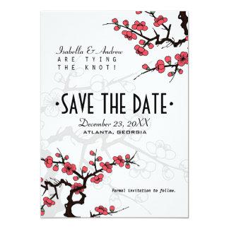 Économies orientales de mariage de fleurs de cartons d'invitation personnalisés