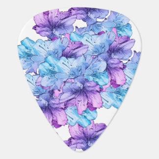 Économies pourpres bleues d'illustration de fleur onglet de guitare