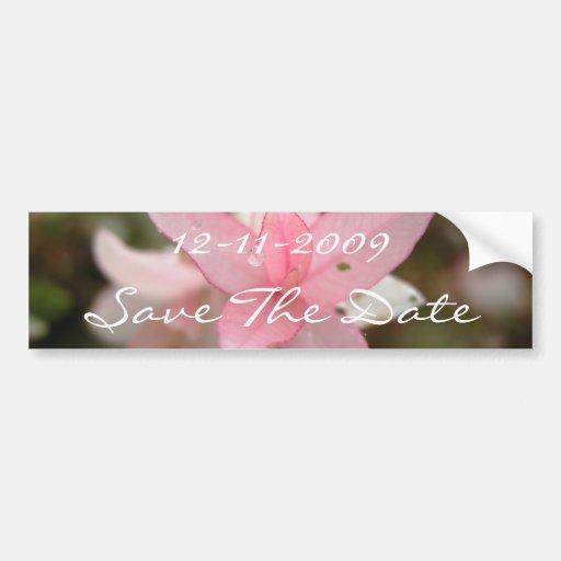 Économies roses de fleur la date autocollants pour voiture