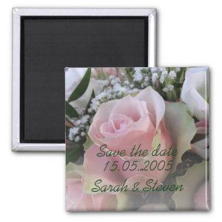Économies roses élégantes de luxe de bouquet de re aimants pour réfrigérateur