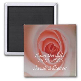 Économies roses élégantes de luxe de fleur la date magnets pour réfrigérateur