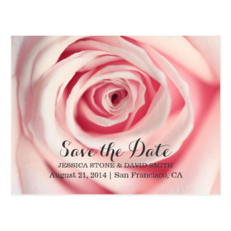 Économies roses élégantes de mariage les annonces cartes postales