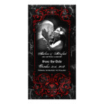 Économies rouges éffrayantes victoriennes gothique cartes de vœux avec photo