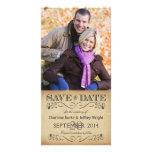 Économies rustiques la date épousant Photocards Modèle Pour Photocarte