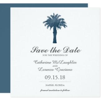 Économies sereines de l'aquarelle | de palmier la carton d'invitation  13,33 cm