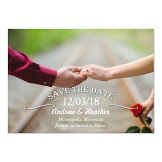 Économies simples de mariage de remous la date carton d'invitation  12,7 cm x 17,78 cm