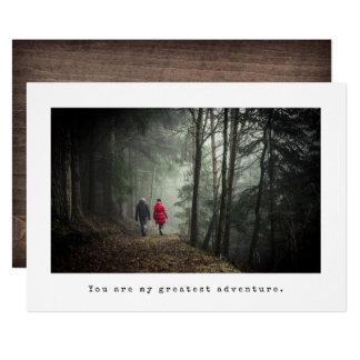 Économies simples de photo de mariage le carton d'invitation  12,7 cm x 17,78 cm