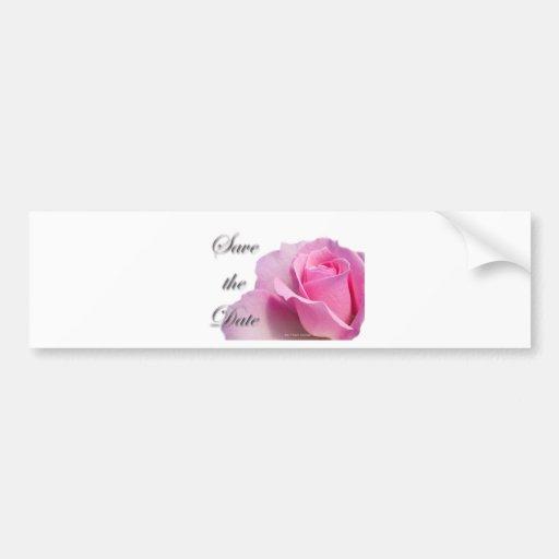 Économies simples de rose de rose la date adhésif pour voiture