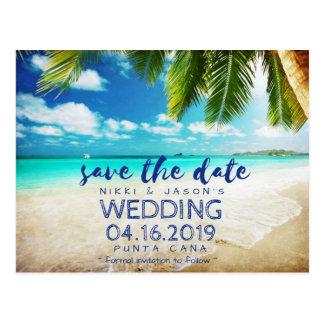 Économies tropicales de mariage de destination de carte postale