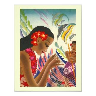 Économies tropicales de mariage les annonces de carton d'invitation 10,79 cm x 13,97 cm