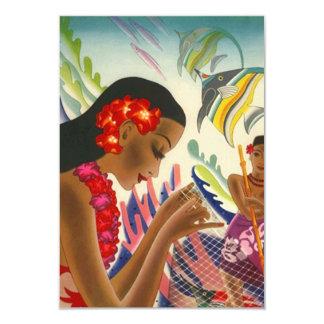 Économies tropicales de mariage les annonces de carton d'invitation 8,89 cm x 12,70 cm