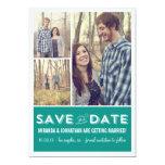 Économies turquoises de photo de grille les carton d'invitation  12,7 cm x 17,78 cm