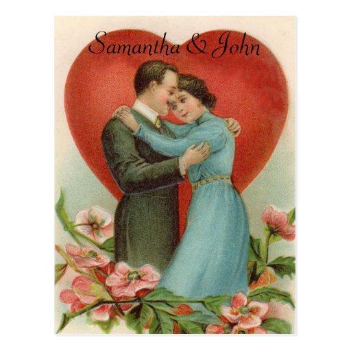 Économies victoriennes de mariage la date carte postale