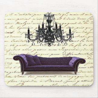 Économies vintages chics minables de lustre de sof tapis de souris