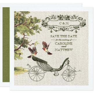 Économies vintages de conception les annonces de carton d'invitation  13,33 cm