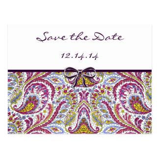 Économies vintages de Paisley la date Carte Postale