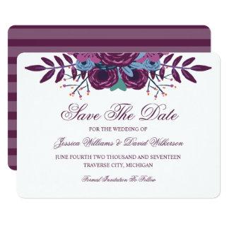 Économies violettes d'aquarelle les annonces de carton d'invitation  12,7 cm x 17,78 cm