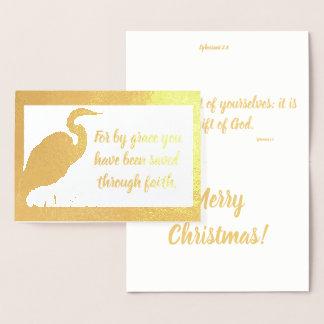 Économisé par la carte d'aluminium de Noël de